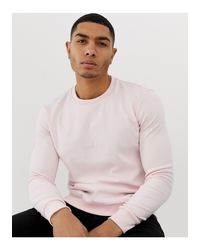 HUGO – Dicago – Sweatshirt in Pink für Herren