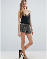 Raga Black Under A Spell Embellished Shorts