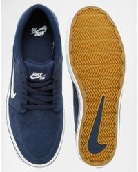 Nike Blue Portmore Trainers 725027-413 for men