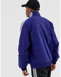Veste à enfiler avec empiècements et logos brodés - Bleu marine Adidas Originals pour homme en coloris Blue