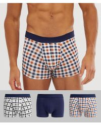New Look Blue Trunks With Checks for men