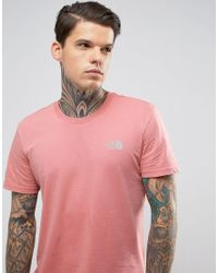 The North Face Simple Dome T-shirt In Dusty Pink Exclusive To Asos for men