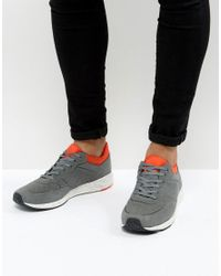 ASOS Gray Trainers In Grey With Neoprene Cuff And Speckle Sole for men