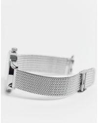 Серебристые Часы Из Нержавеющей Стали ASOS для него, цвет: Metallic