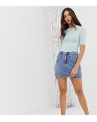 Stradivarius Denim Skirt In Blue