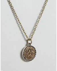 Icon Brand - Metallic Pendant Necklace In Gold - Lyst