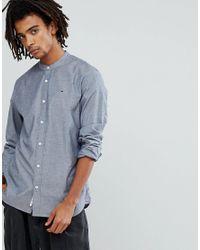 1f906e23 Hilfiger Denim Tommy Jeans Grandad Collar Oxford Shirt Regular Fit ...