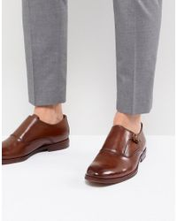 ALDO - Brown Catallo Leather Monk Shoes In Tan for Men - Lyst