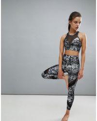 Onzie Multicolor Printed Crop Sporty Yoga Leggings