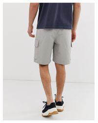 Плотные Саржевые Шорты Карго -бежевый ASOS для него, цвет: Gray