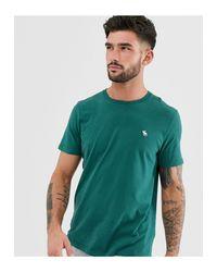 T-shirt ras Abercrombie & Fitch pour homme en coloris Green