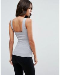 ASOS - Gray Vest With Square Neck - Lyst