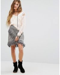 Free People - Multicolor Around The World Printed Wrap Skirt - Lyst