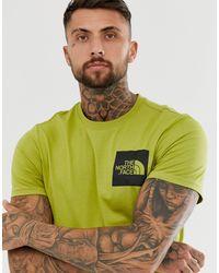 Fine - T-shirt verde di The North Face in Green da Uomo