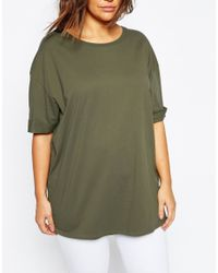 ASOS - Natural Curve Oversized Tunic T-shirt - Lyst
