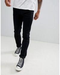 Jeans skinny nero slavato di Produkt in Black da Uomo
