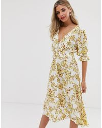Vestido midi con estampado floral Rafa Faithfull The Brand de color Multicolor