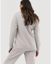 ASOS DESIGN Maternity - Ultimate - Sweat-shirt confort ASOS en coloris Gray