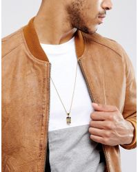 Mister Metallic 2 Tone Jesus Piece Necklace In Gold & Black for men