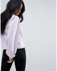 Vero Moda Pink Balloon Sleeve Top