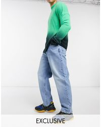Collusion Blue X014 90s baggy Jeans for men