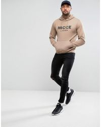 Nicce London Multicolor Hoodie With Signature Logo for men