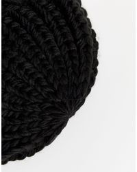 Bonnet en maille Ichi en coloris Black