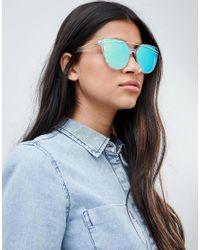 Lunettes de soleil yeux de chat avec barre et verres teints South Beach en coloris Blue