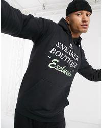 Черный Худи С Принтом Adidas Originals для него, цвет: Black