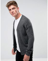 French Connection Gray Man Cardigan for men