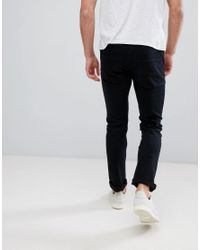 French Connection Black Slim Fit Jeans for men