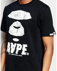 Aape - White By A Bathing Ape Theme T-shirt for Men - Lyst