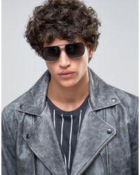 A.J. Morgan - Metallic Gunny Square Sunglasses In Gunmetal for Men - Lyst