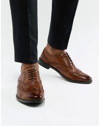 Светло-коричневые Оксфордские Туфли-броги Из Кожи ASOS для него, цвет: Brown