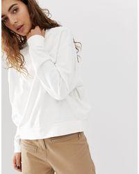 Felpa corta oversize bianca di Weekday in White