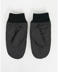 Черные Стеганые Варежки ASOS, цвет: Black