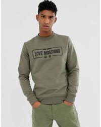 Love Moschino Sweater Met Logo in het Green voor heren