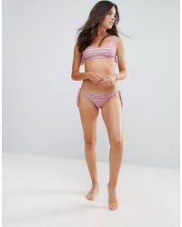 Rip Curl - Pink Rip Curl Textured Stripe Cami Bikini Top - Lyst