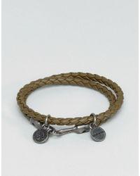 DIESEL | Green A-lucy Wrap Leather Bracelet In Olive | Lyst