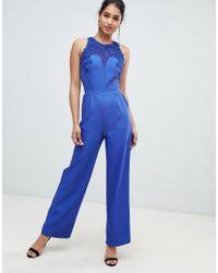 Combinaison ajustée à ceinture Little Mistress en coloris Blue
