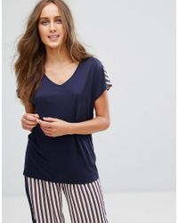 Top de pijama a rayas Tommy Hilfiger de color Blue
