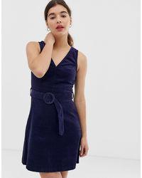 Вельветовый Сарафан -темно-синий New Look, цвет: Blue