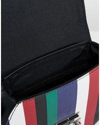 Stradivarius - Multicolor Multi Stripe Clip Cross Body Bag - Lyst