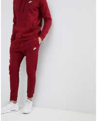 pantalon jogging homme nike rouge