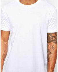 ASOS Super Longline T-shirt In White for men