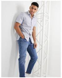 Хлопковая Рубашка Классического Кроя В Клетку -белый Lacoste для него, цвет: White