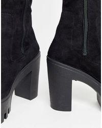 Botas altas y gruesas en negro Kingdom ASOS de color Black