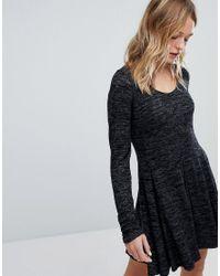 Hollister Black Cosy Scoop Neck Dress