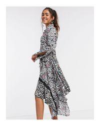 Асимметричное Платье-рубашка Со Звериным Принтом -мульти Liquorish, цвет: Multicolor