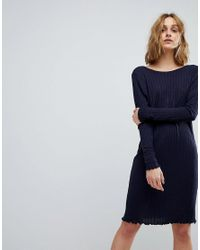 Vero Moda - Blue Jumper Dress With V Back - Lyst